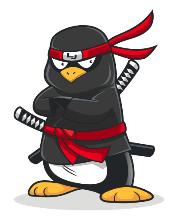 Le manchot-ninja, fière mascotte de LinuxJobs.fr