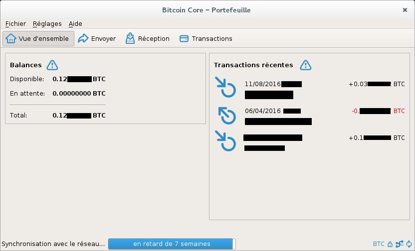 Le porte-feuille bitcoin-qt