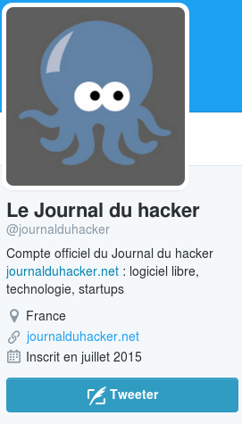 Le compte Twitter du Journal du hacker