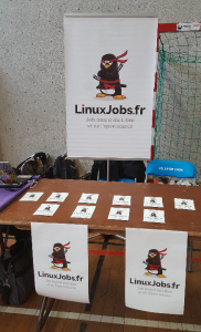 Le stand LinuxJobs.fr aux JDLL 2017
