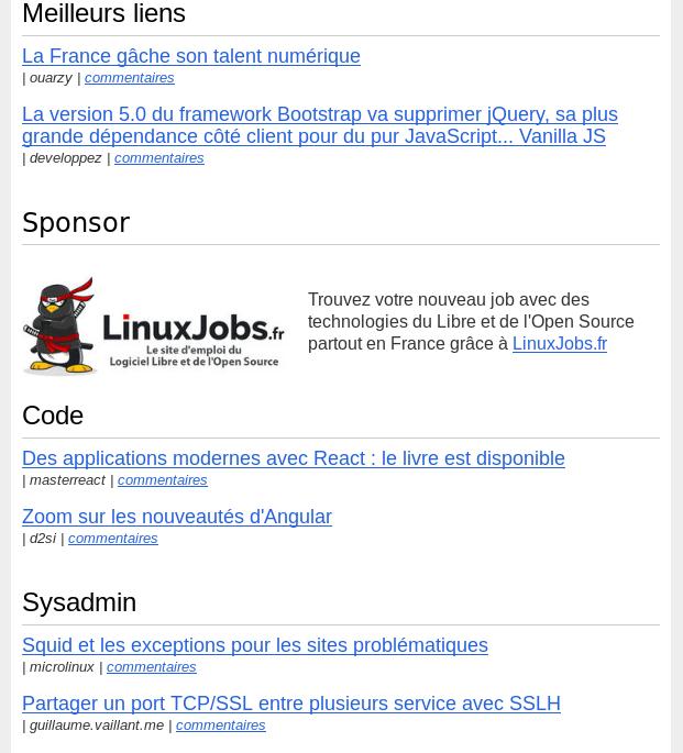 Extrait du Courrier du hacker, la newsletter du logiciel libre