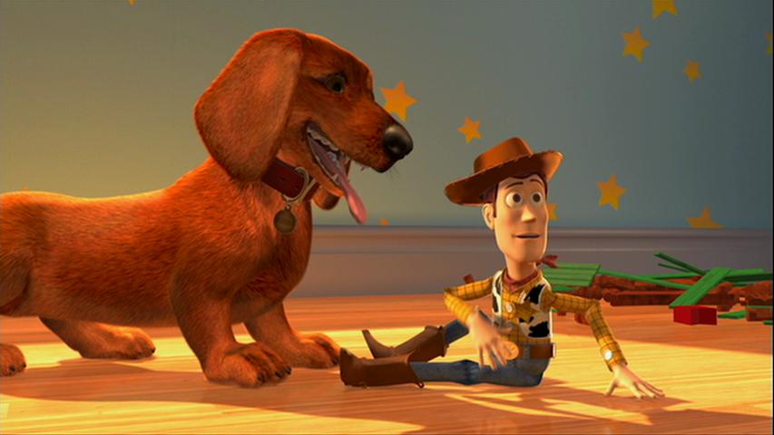 Buster à gauche, Buzz à droite